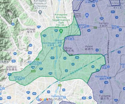 2020 年 10 月 22 日 神奈川県:厚木市、綾瀬市(既存エリア拡大)、伊勢原市、海老名市(既存エリア拡大)、藤沢市(既存エリア拡大)、座間市(既存エリア拡大)、寒川町の一部地域 パートナー募集